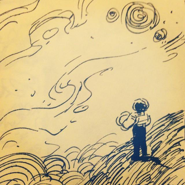 Post-it note doodle.